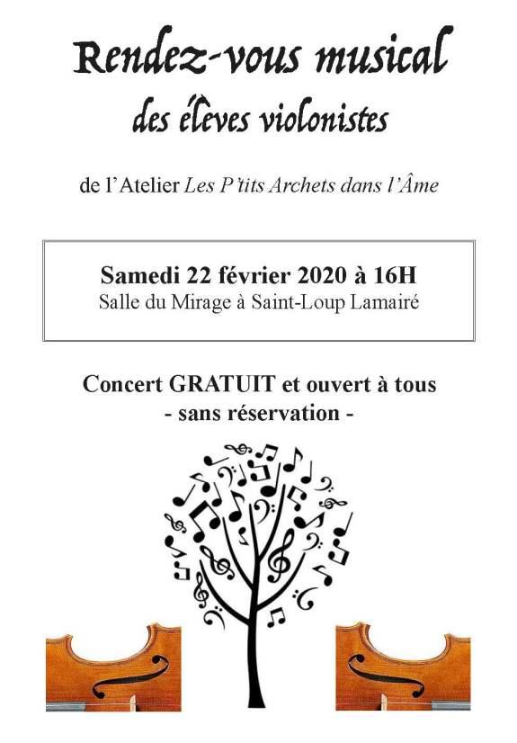 Affiche Audition 22 février 2020